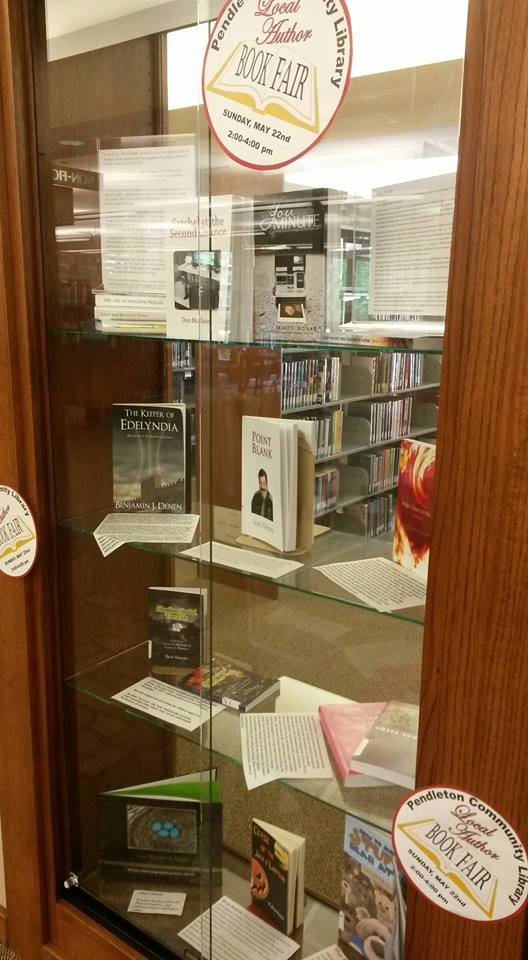 "A display in a local library shows off ""The Shoe Troll"" by Ghouliana Stories"